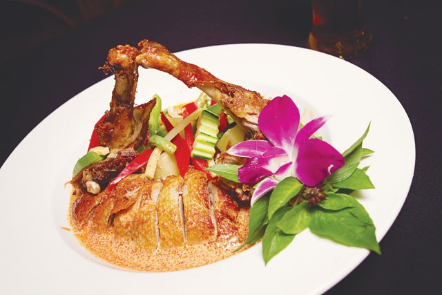 Queen of Duck plate from Thai Lemongrass. - JOHH HUSKIN