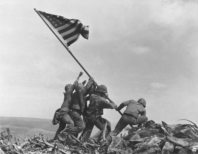 """""""Raising the Flag on Iwo Jima"""" - COURTESY"""
