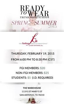 FASHION GROUP INTERNATIONAL SAN ANTONIO - Ready to Wear Spring Summer Trend Report