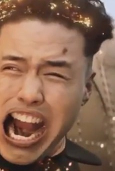 A still of the Kim Jong-un death scene from the The Interview