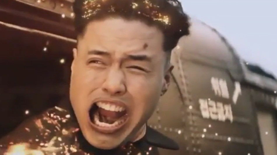 A still of the Kim Jong-un death scene from the The Interview - COURTESY