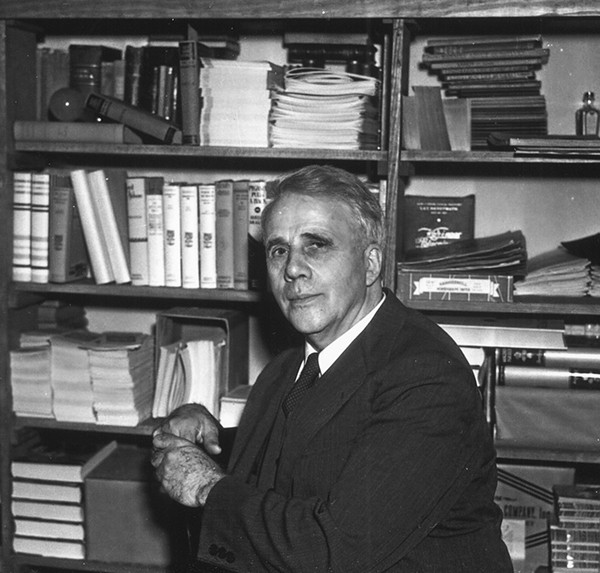 Robert Frost at Rosengren's Books - COURTESY