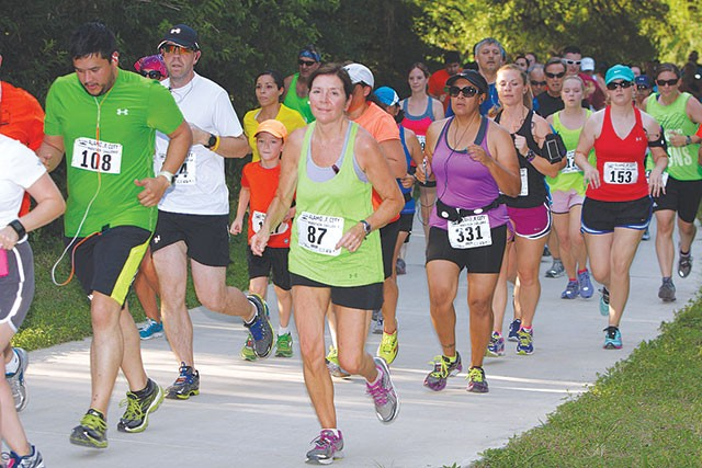 Runners during the first leg of the Alamo City Marathon Challenge - COURTESY PHOTO