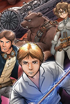 SA Comic Artist Fred Perry Inks 'Star Wars' Parody with Steampunk