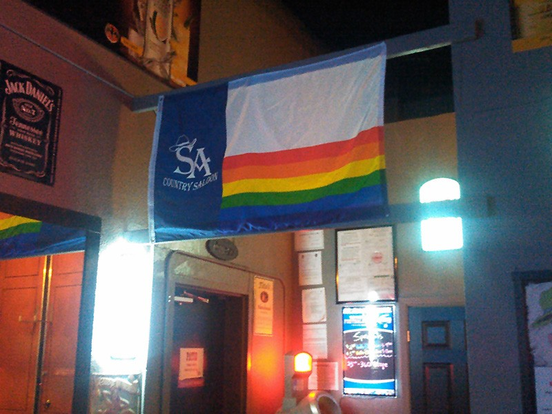 SA Country Saloon dons its colors proudly. - KEVIN FEMMEL