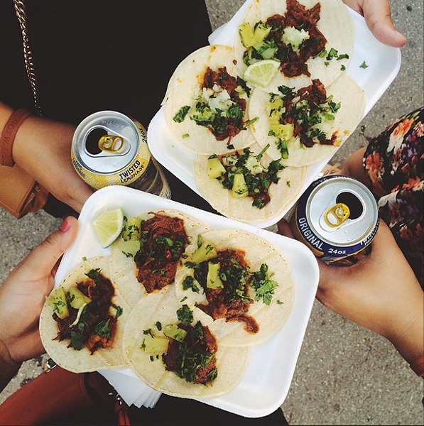 Tacos and tacos and tacos - @THESTYLEDOSSIER/INSTAGRAM