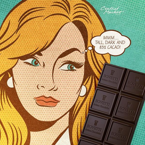 Sad men can enjoy Central Market's A Chocolate Affair, too. - COURTESY