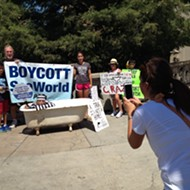 SeaWorld Stock Falls, PETA Protests in Downtown