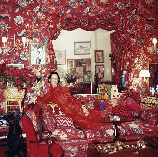 Seeing red: Fashion icon Diana Vreeland - COURTESY PHOTO