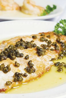 Selections from Piccolo's Italian Restaurant: Snapper Meuniere