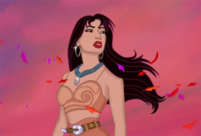Selena hearing the wolf cry to the blue corn moon. - WALT DISNEY STUDIOS / WILL VARNER / BUZZFEED