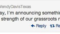 Signs Point to Davis Run for Texas Governor, Formal Announcement Next Week