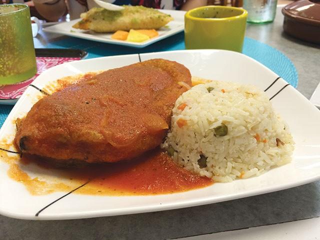 Simple and tasty—a chile relleno via Cocina Heritage - JESSICA ELIZARRARAS