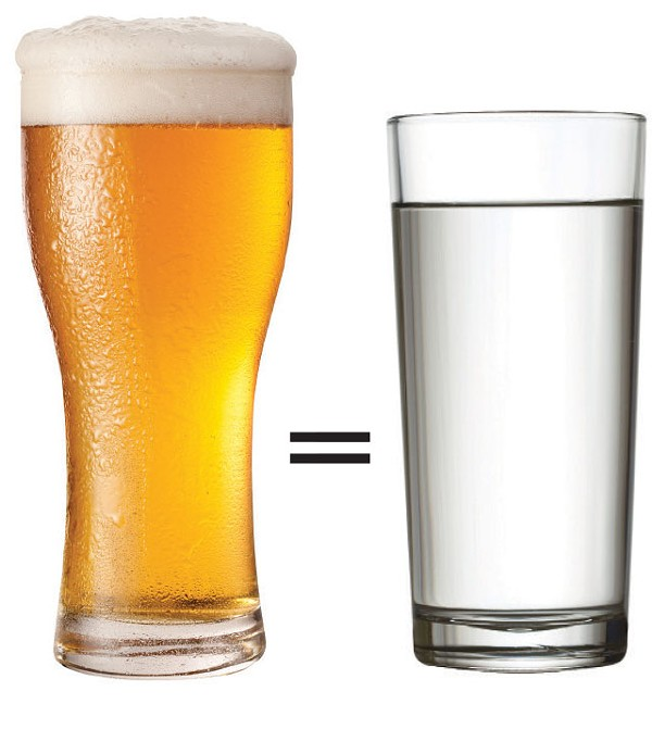 Simple math: one glass of water for every alcoholic drink