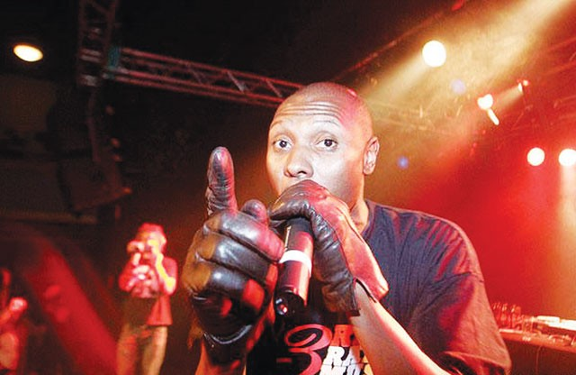Smell the glove: K-Rino spits some verse. - COURTESY PHOTO