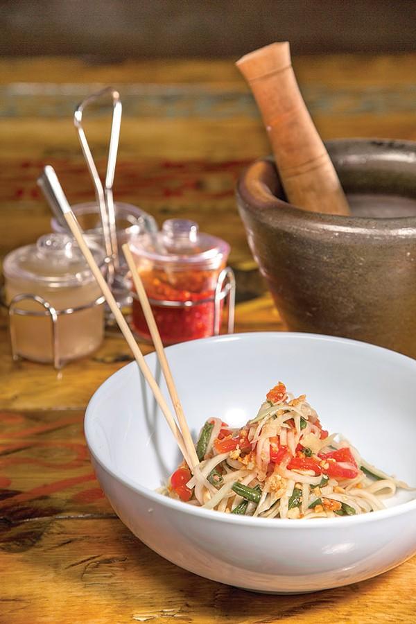 Som Tam—an enticing green papaya salad - CASEY HOWELL