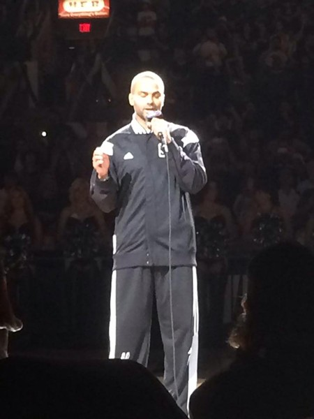 """Thank you for your support. You're the best fans in the NBA"" -Tony Parker - VIA FACEBOOK"