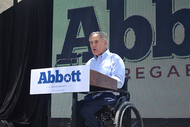 State Attorney General Abbott announced his campaign for governor last week in San Antonio - PHOTO BY MARY TUMA