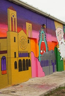 City Center Health Careers charter school worked collaboratively with San Antonio Cultural Arts and other nonprofits to create the neighborhood mural. The state has recommended revoking City Center Health Careers' charter.