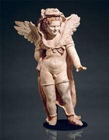 PHOTO: MUSEUM OF FINE ARTS, BOSTON, HENRY LILLIE PIERCE FUND - Statuette of Eros wearing the lionskin of Herakles, Greek, East Greek, late 1st century BC.