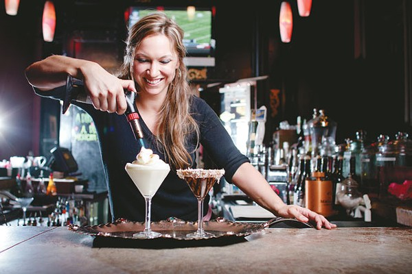 Stephany Gordon, mixologist at SoHo Wine and Martini Bar - JOSH HUSKIN