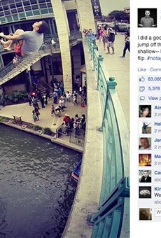 Steve-O Jumped into the San Antonio River off a Bridge