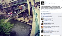 Steve-O Jumped into the San Antonio River off a Bridge