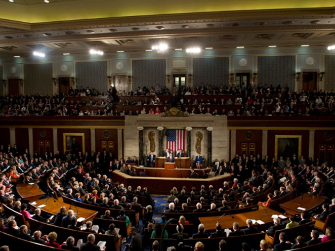 The House of Representatives during the 2012 State of the Union address. - HOUSE OF REPRESENTATIVES