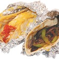 Taste this: DELUXE BREAKFAST TACOs (chilaquiles and beef fajita), from el nogal $1.99
