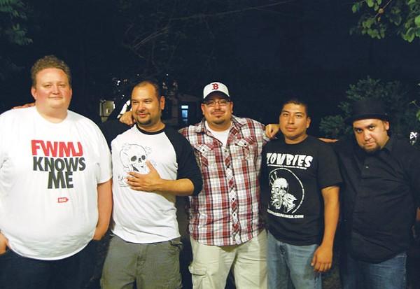 Team DMP: Scott Andreu, Anthony Trinidad, Pete Requejo, Jeremy Pacheco, and Ray Tattooedboy. - ADAM VILLELA CORONADO