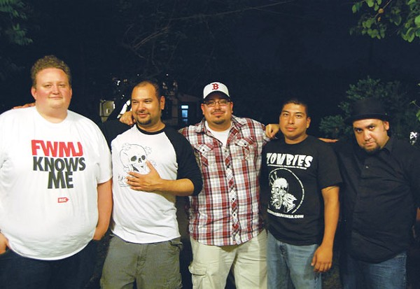 Team DMP: Scott Andreu, Anthony Trinidad, Pete Requejo, Jeremy Pacheco, and Ray Tattooedboy. - ADAM VILLELA CORONADO