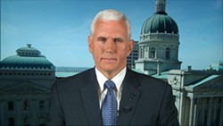 Indiana Governor Mike Pence on ABC News' This Week With George Stephanopoulos on Sunday, March 29, 2015. - ABC NEWS