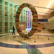The Art Guys' big wheel at SA Intn'l Airport