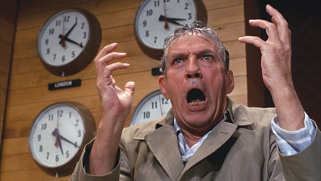The mad prophet of the airwaves: Peter Finch as Howard Beale in Network - COURTESY PHOTO