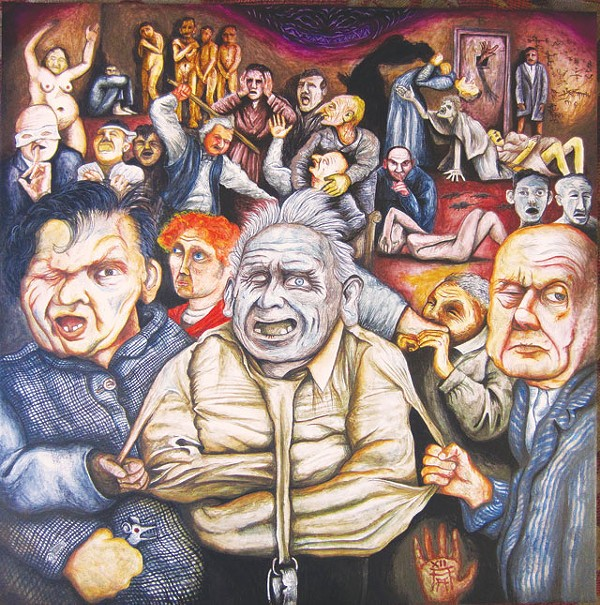 The Madhouse, 2012, acrylic on panel