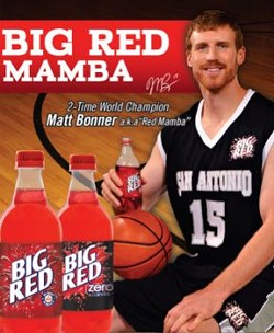 The Red Mamba in an ad for Big Red - COURTESY OF BIG RED