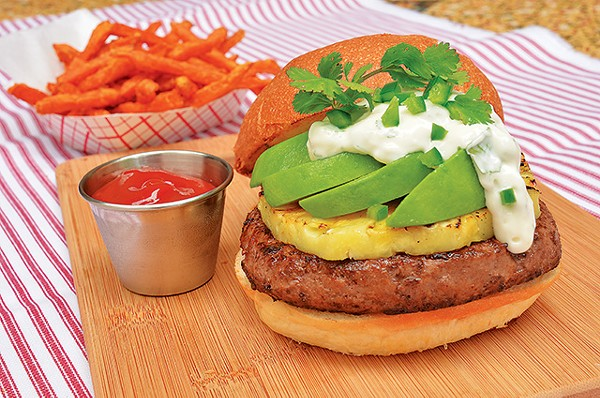 The San Antonio Luau burger and sweet potato fries - COURTESY PHOTO