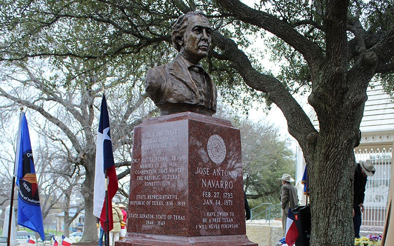 The State Cemetery's Navarro cenotaph - COURTESY