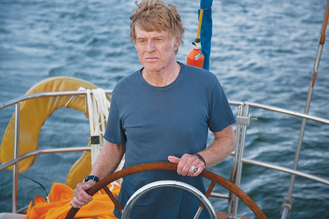 The still-incredibly-good-looking old man and the sea—Our Man (Robert Redford) in 'All Is Lost' - COURTESY PHOTO