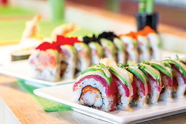 The Tricolor Roll (back) and the Spider Roll
