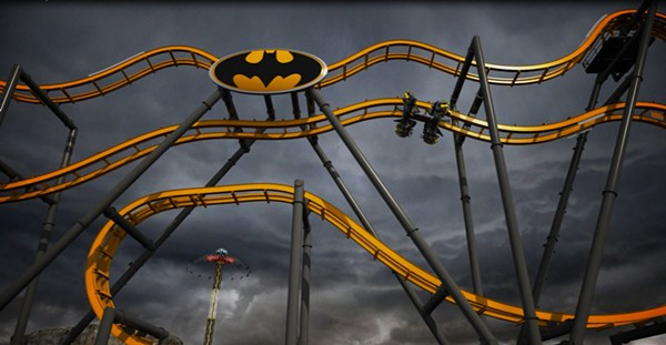 The upcoming Batman: The Ride at Six Flags Fiesta Texas - COURTESY