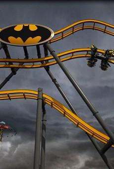The upcoming Batman: The Ride at Six Flags Fiesta Texas