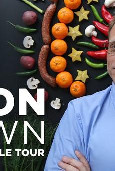 Tobin to Host Alton Brown in April