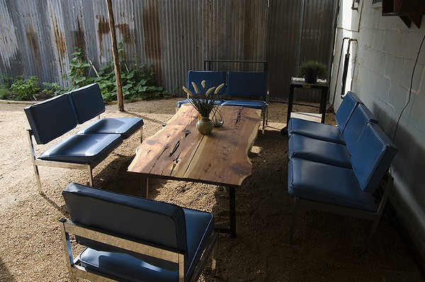 Tons of choices for SA summer lounging, such as this cozy spot at Alchemy Kombucha & Culture. - JAIME MONZON