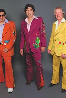 Tres Amigos: David and Hector Saldaña, Van Baines.