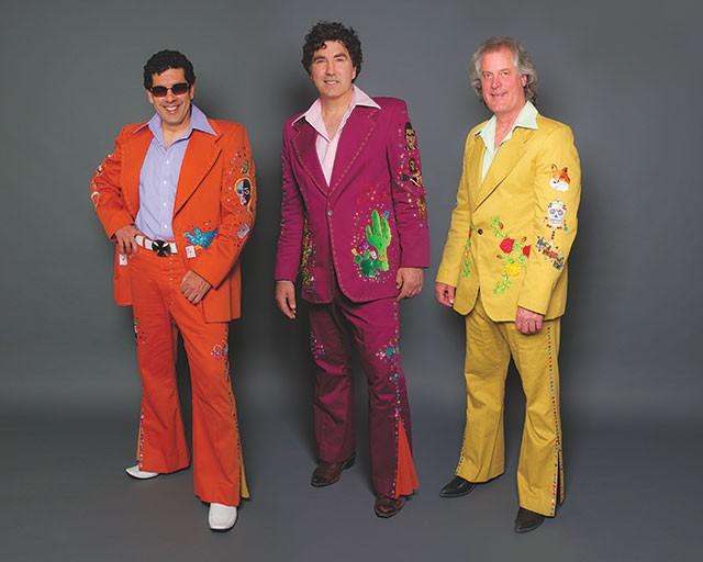 Tres Amigos: David and Hector Saldaña, Van Baines. - COURTESY PHOTO