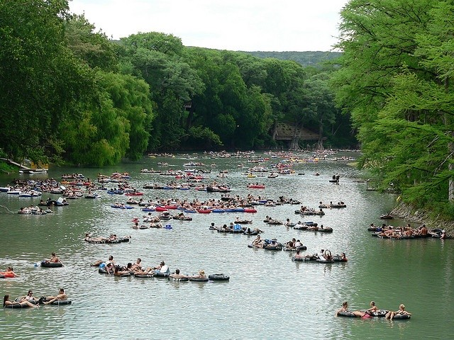 Tubing the Guadalupe River - PHOTO VIA FLICKR USER HOUSTONIAN