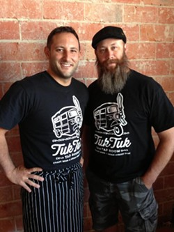 Chef David Gilbert (left), Steve Newman (right) opened Tuk Tuk Tap Room in September 2013. - COURTESY