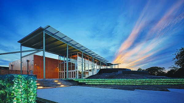 Local firm Lake Flato's design for The DoSeum features dramatic lines, solar panels and repurposed materials. - COURTESY