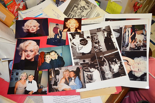 Archive photos of SA native and famed Marilyn Monroe impersonator Jimmy James. - BRYAN RINDFUSS